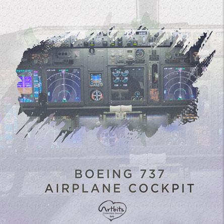 Boeing 737 Airplane Cockpit